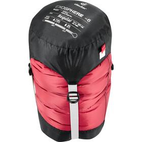 Deuter Exosphere -6° Sleeping Bag regular cranberry-fire